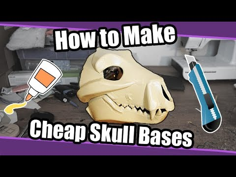 //Tutorial #76// Cheap Skull Base For Fursuits + PDF Template thumbnail