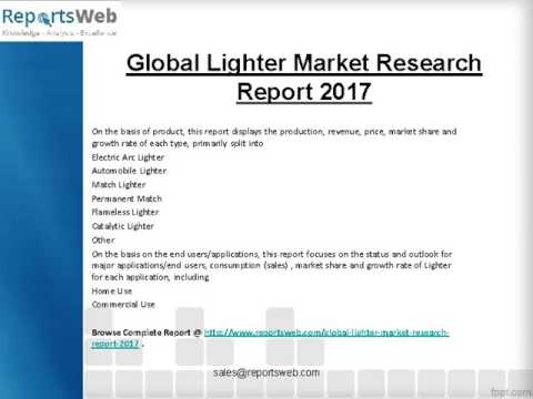 Global and Chinese Economic Impact on Lighter Industry 2017