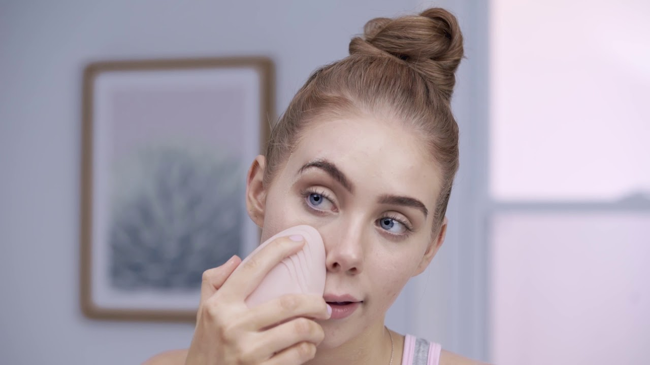 Silicone Facial Cleansing Brush How To Video Youtube