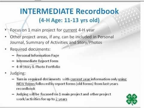 4-H Record Books - Project Forms (2 of 11) - YouTube