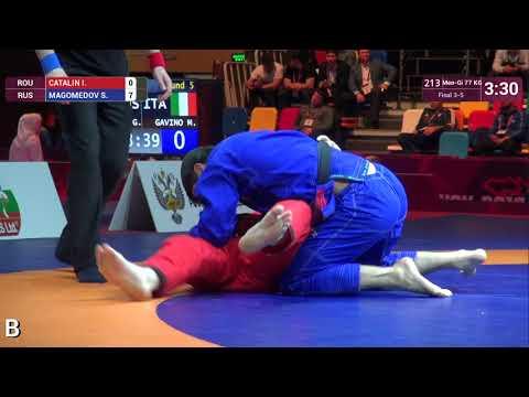 BRONZE Men-Gi - 77 kg: I. CATALIN (ROU) v. S. MAGOMEDOV (RUS)
