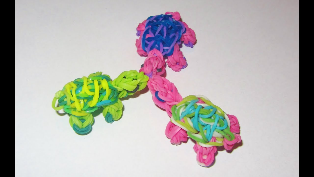 Rainbow Loom Turtle Charm How To Tutorial Youtube