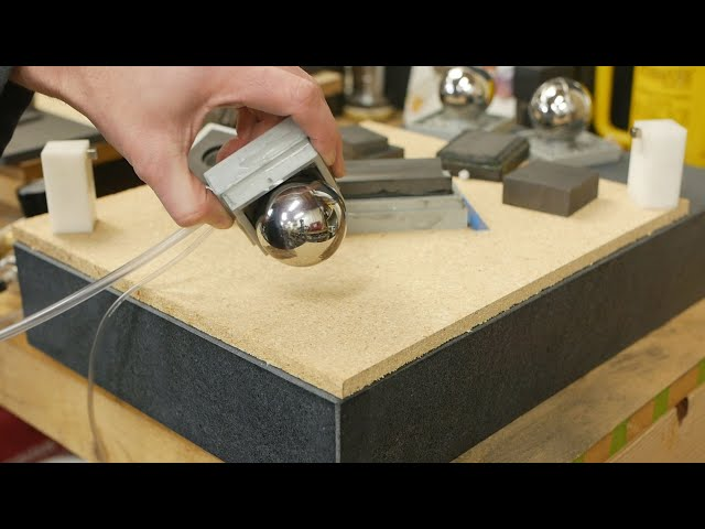 Make vacuum pre-loaded spherical air bearings without special tools