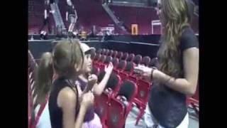 Noah & Emily interview Miley on set of WonderWorld tour 2009!!