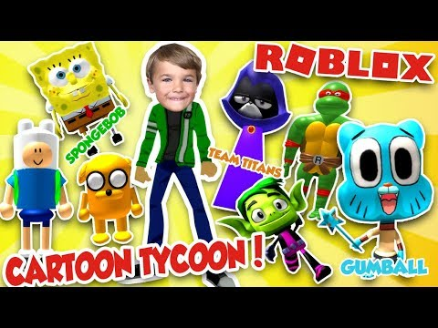 ROBLOX CARTOON TYCOON! BUILD YOUR FAVORITE CARTOON CHARACTERS HQ!