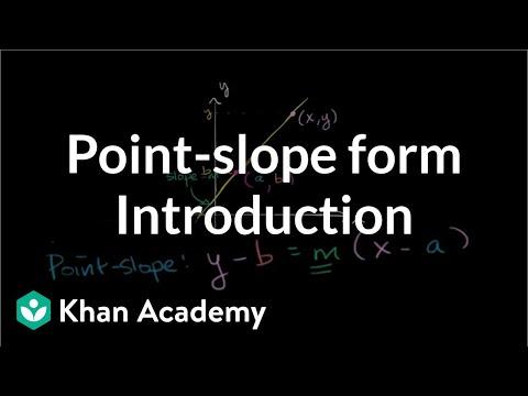 Introduction To Point-slope Form | Algebra I | Khan Academy
