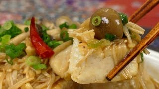 Tofu Steak with Mushroom Sauce Recipe  Cooking with Dog