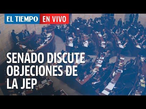 Senado discute en plenaria las objeciones a la JEP (parte 2)   EL TIEMPO