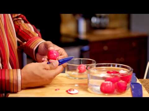 How To Cut A Radish For Garnishes