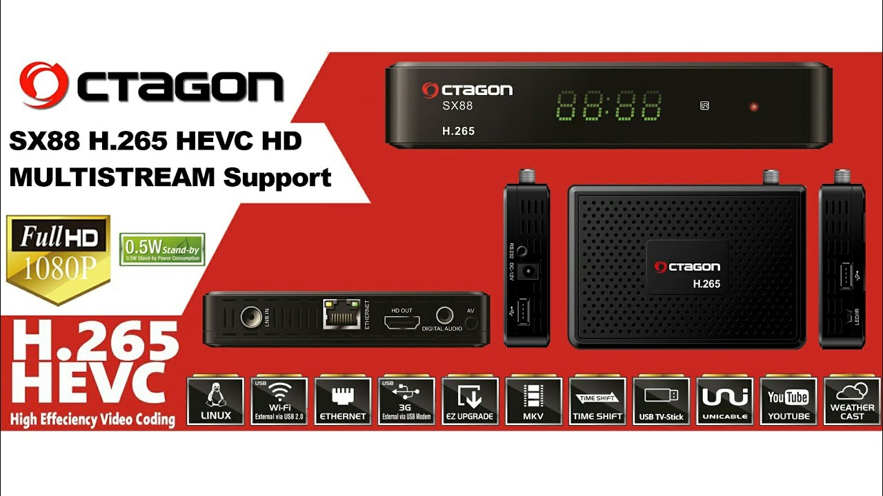 OCTAGON SX88 H 265 HEVC HD Video - First Look Preview