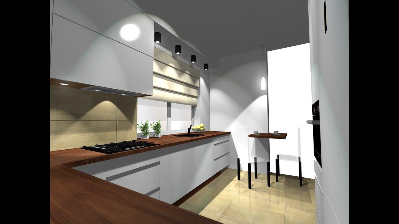 jak zaprojektowa� duż� kuchnię projekt kuchni w pro100 cz