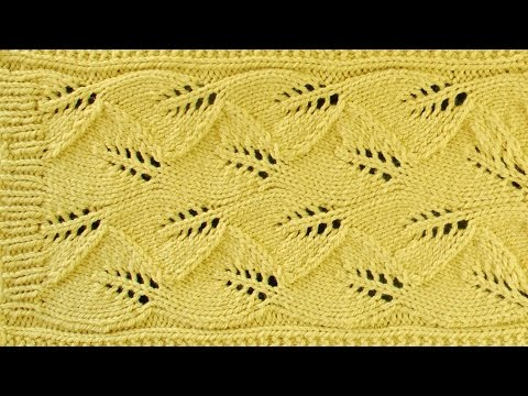 LACE LEAF SCARF - Lace Knitting Repeat Explained Stitch by Stitch. Part 1 - Y...
