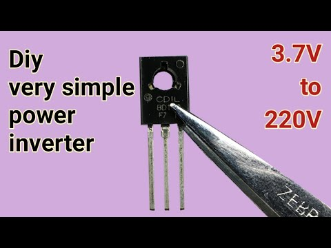 Easy 3.7V to 220V inverter using cfl transistor