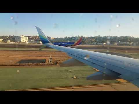 Alaska Airlines flight from San Diego to Kahului, HI.