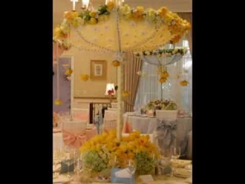 Easy Baby Shower Umbrella Decor Ideas