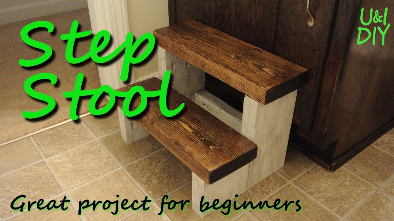 Pallet Wood Step Stool