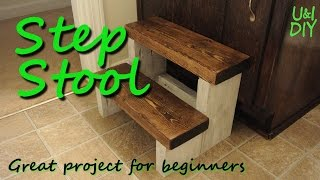Step stool - DIY tutorial