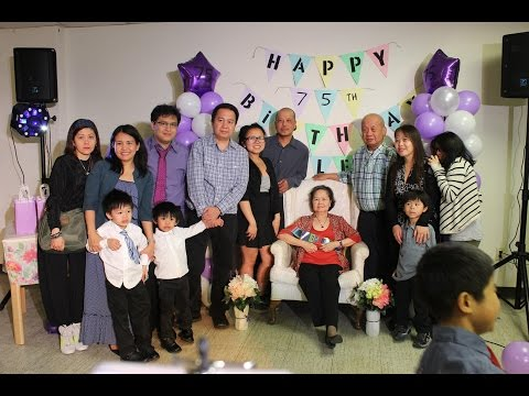 Nanay 75th Birthday