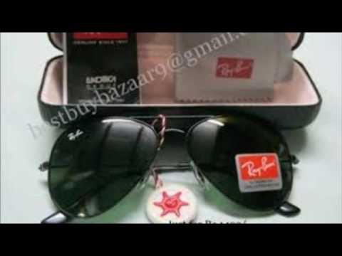 96049361e0 All new ray ban aviator sunglasses gold frame black lenses - YouTube