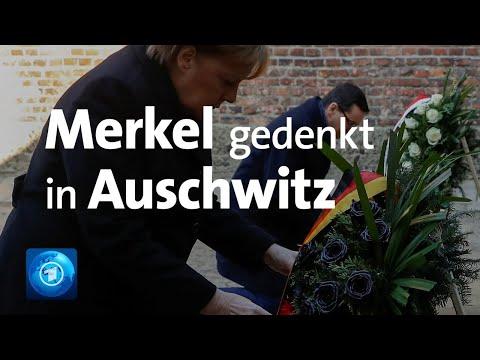 Merkel-Rede in Auschwitz - erster Kanzler-Besuch seit Kohl 1995