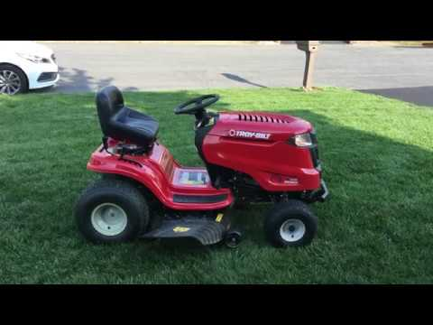 Troy Bilt Bronco Riding Mower Review 2015 Model Youtube