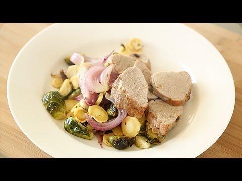 Pork Tenderloin with Roasted Fall Vegetables Everyday Food with Sarah Carey