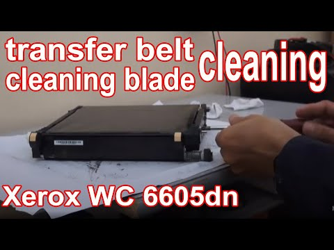 Xerox Workcentre 6605DN  Cleaning of transfer belt and cleaning blade