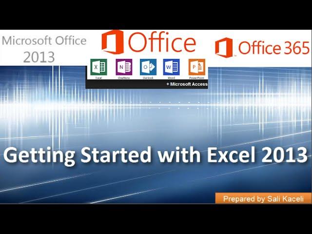 Excel 2013 (Excel 365) Tutorials