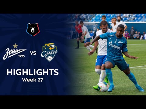 Zenit Petersburg Sochi Goals And Highlights