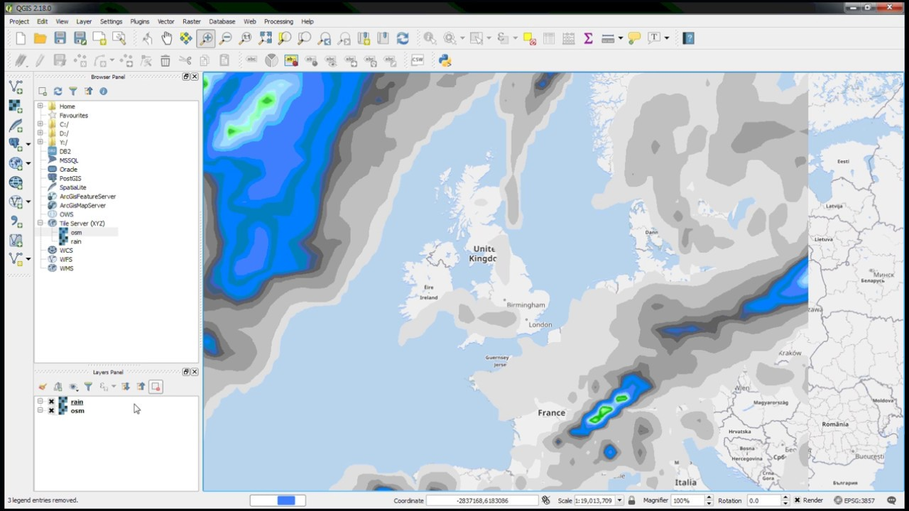 WMTS enhancement and XYZ tile native support in QGIS 2 18 - Lutra