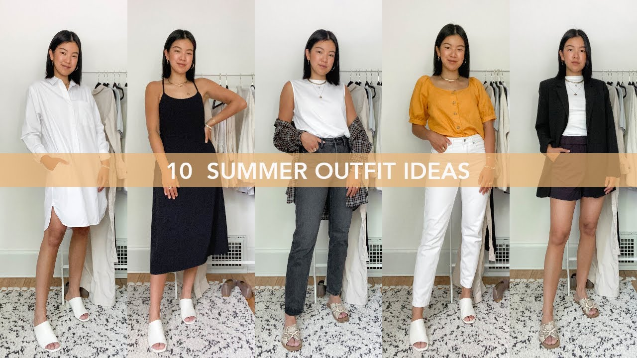 NEW SUMMER OUTFIT IDEAS | Work From Home To Office Looks | Everlane Haul
