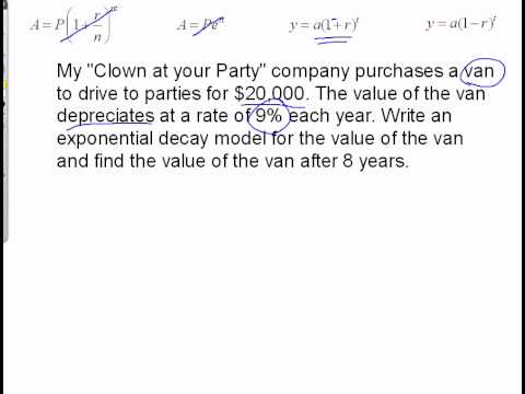 exponential growth and decay word problems - YouTube