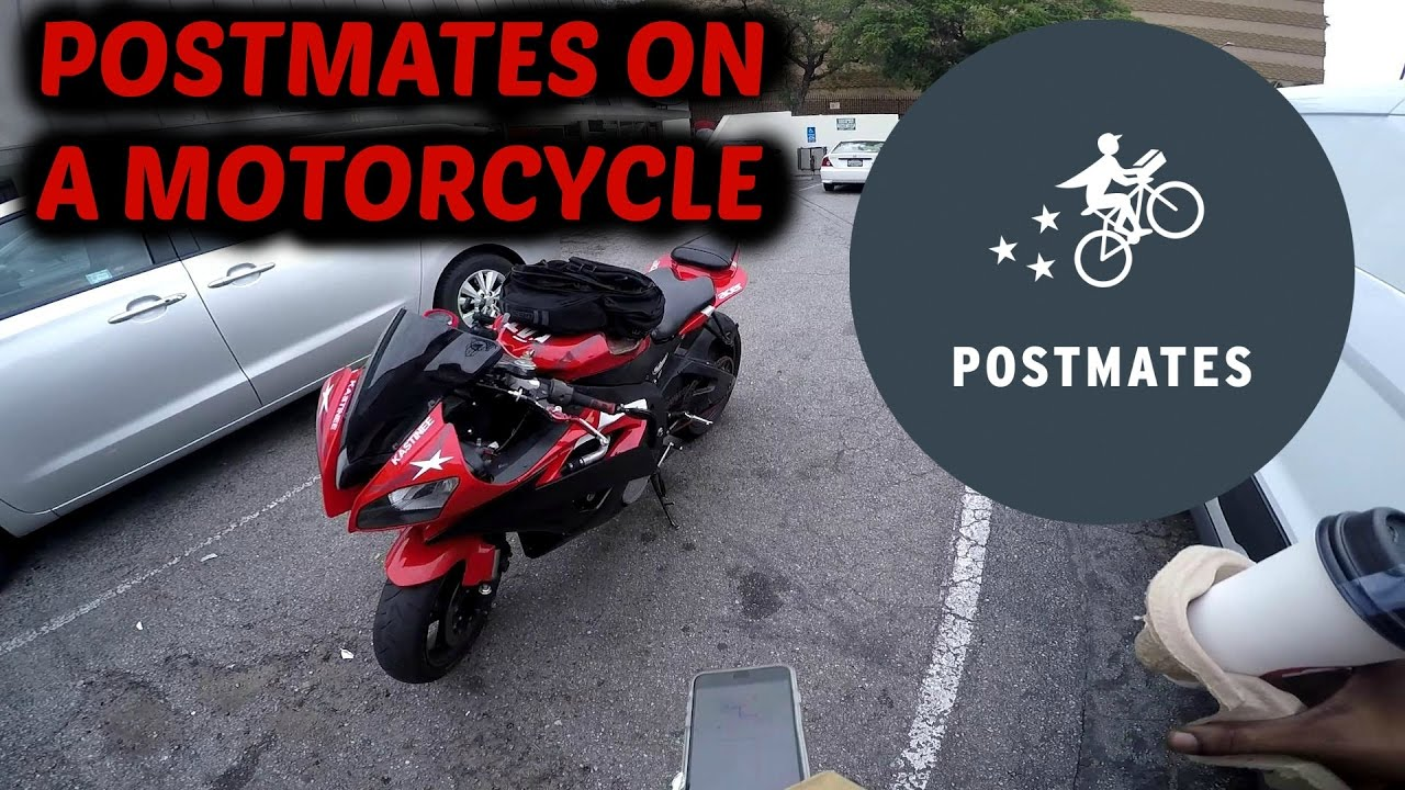 Postmates on a Motorcycle
