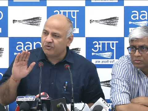Statement by Leader of AAP & Dy. CM of Delhi Manish Sisodia regarding PM's Speech on Indian economy