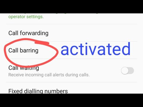 Activate call barring in any mobile latest 2018
