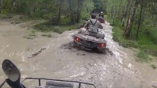 ATV Mudding in Wild Forest - Quad Bike Mudding