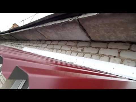 Остекление балкона с установкой крыши.