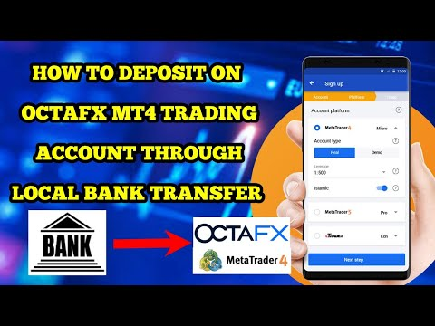 How to deposit on Octafx MT4 trading account through Bank transfer