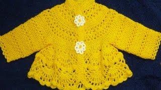 Платье крючком для малышки 3-6 месяцев.Вязание детям./crochet