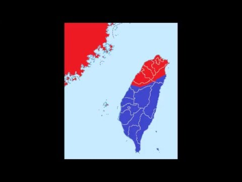 Taiwan China Map.China Taiwan War Map Simulation Youtube