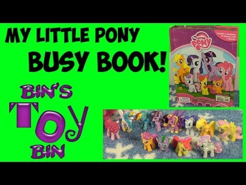 My Little Pony MY BUSY BOOK 12 MLP Figures Storybook & Playmat Review by Bin's Toy Bin YouTube