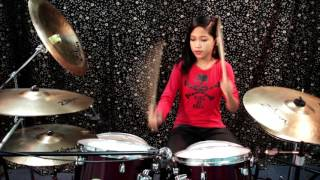 Repeat youtube video Black Veil Brides - The Legacy - Drum Cover by Nur Amira Syahira