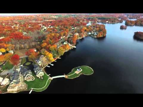 Lake Quinsigamond in Shrewsbury MA, Drone Footage (Full Flight)