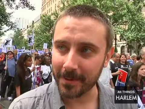 Jeremy Scahill & Daughter speak at Silent March to End Stop and Frisk in New York City