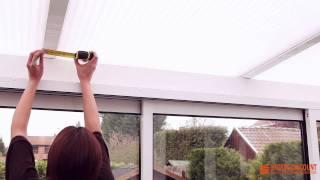 Prendre les mesure pour un store plafond de véranda