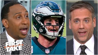 First Take gets heated debating Carson Wentz's performance vs. the Ravens
