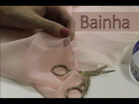 a7729e3ec Como fazer bainha enrolada/ Bainha para tecidos transparentes. Algodão Cru