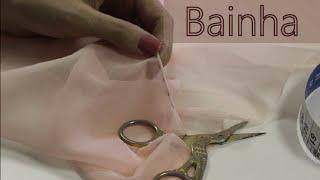 Como fazer bainha enrolada/ Bainha para tecidos transparentes