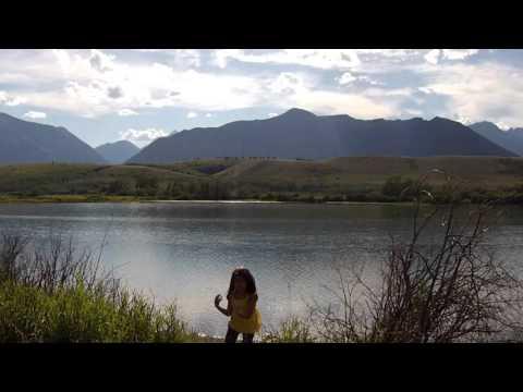 DJI phantom vision 2 plus flyover Waterton Lake Na