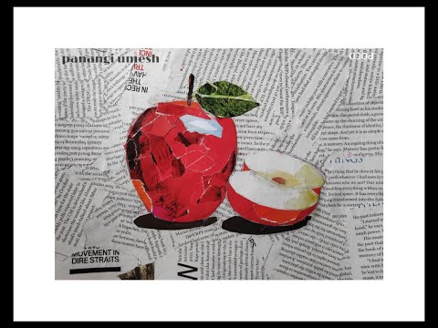 how to make paper collage with easiest way. (DO IT YOURSELF)